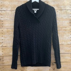 L.L. Bean women's med cable knit sweater heavy